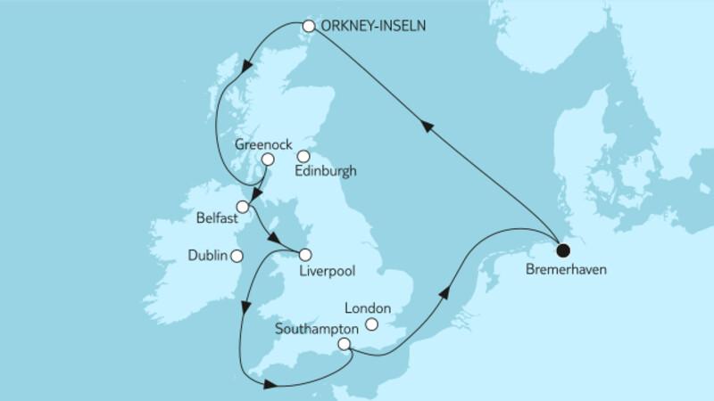 Großbritannien mit Orkney-Inseln