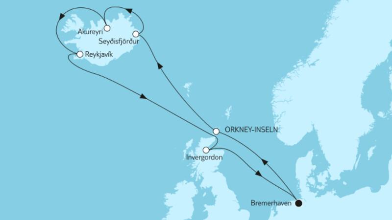 Island mit Schottland
