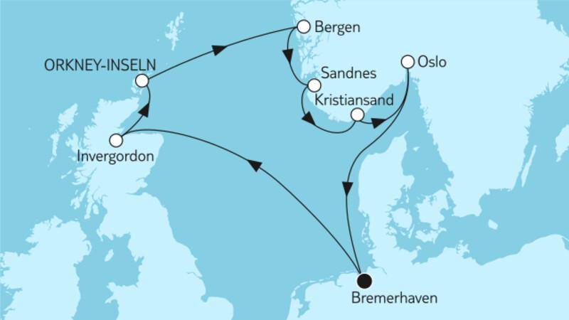 Norwegen Okney-Inseln