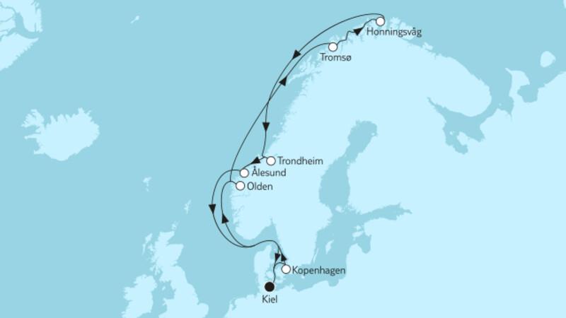 Norwegen mit Nordkap & Kopenhagen