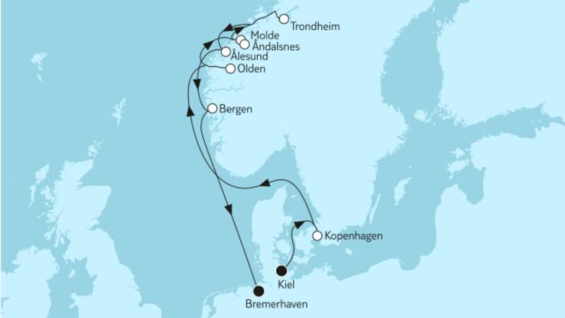Norwegen mit Trondheim