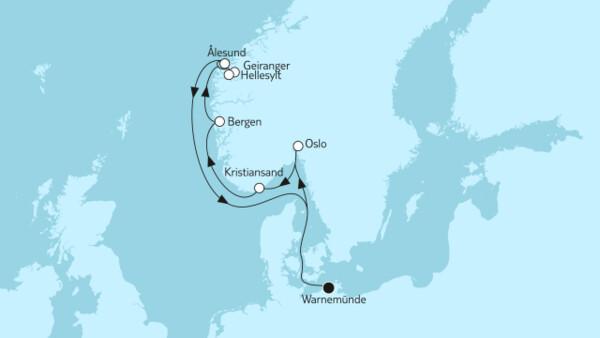 Norwegen mit Geiranger