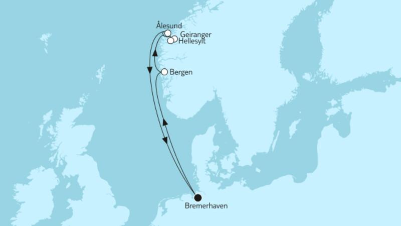 Norwegen mit Geirangerfjord & Ålesund