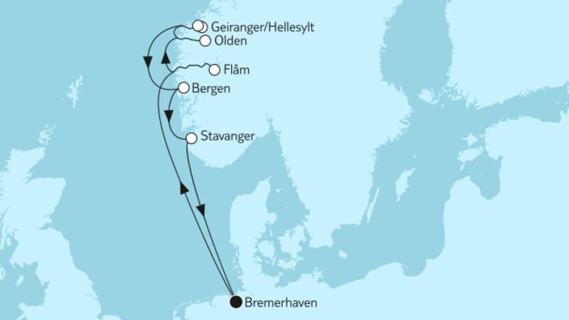 Norwegen mit Flåm & Geirangerfjord