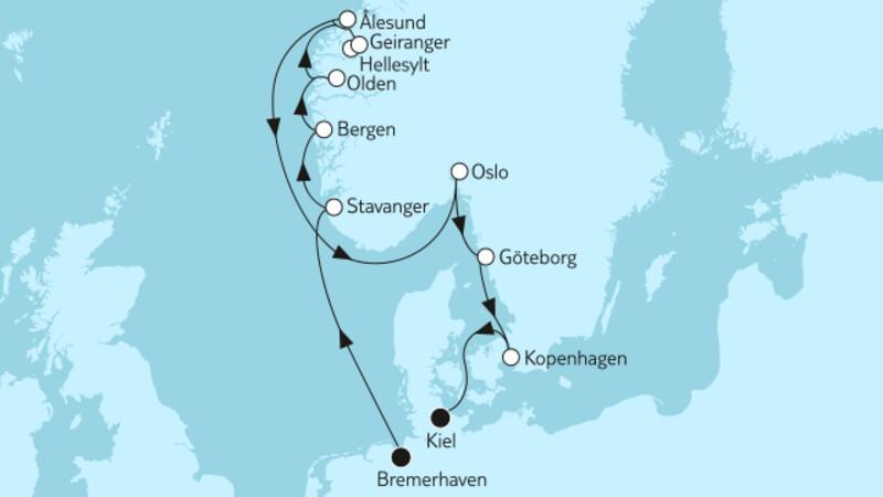Norwegen mit Geirangerfjord & Kopenhagen