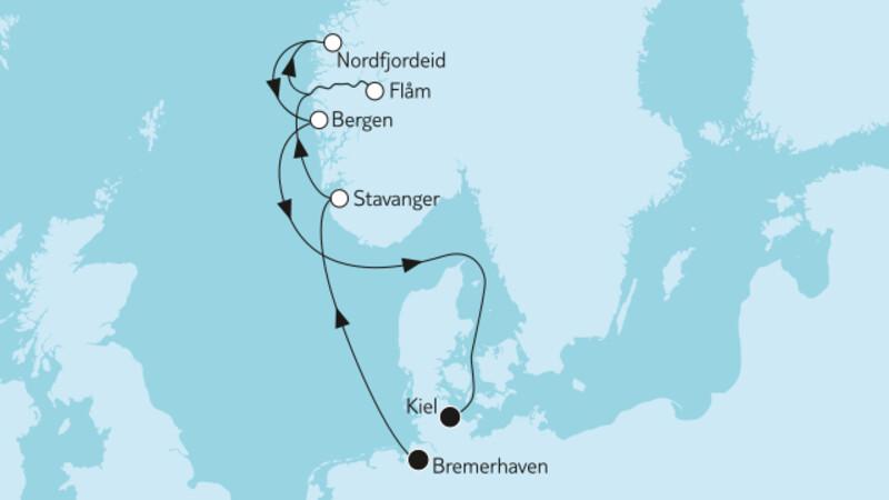 Norwegen mit Flåm
