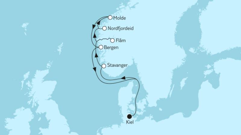 Norwegen mit Molde