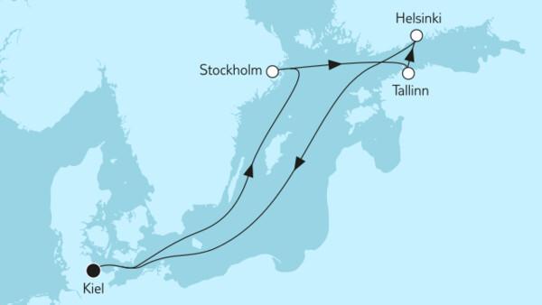 Die raue Landschaft von Skandinavien bestaunen - auf einer Flugreise nach Skandinavien