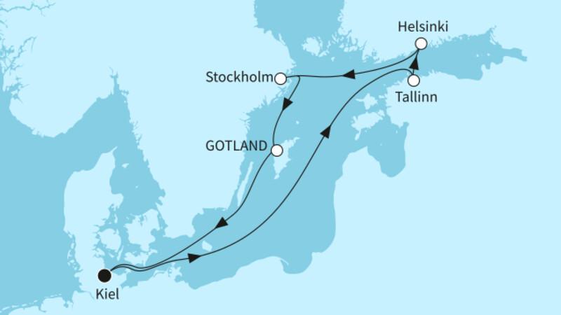 Ostsee mit St. Petersburg & Kopenhagen