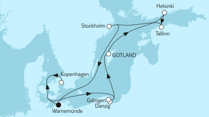 Ostsee mit St. Petersburg & Danzig III