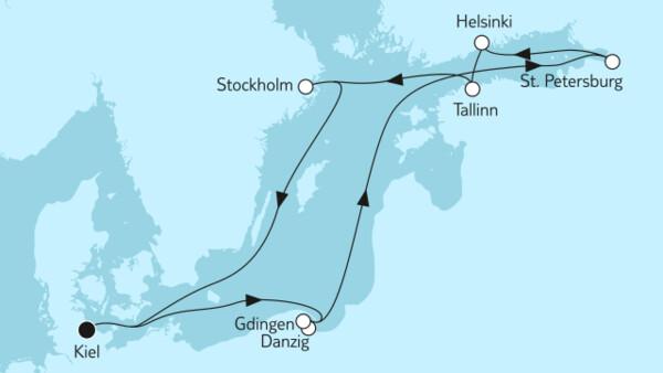 Ostsee mit St. Petersburg & Danzig I
