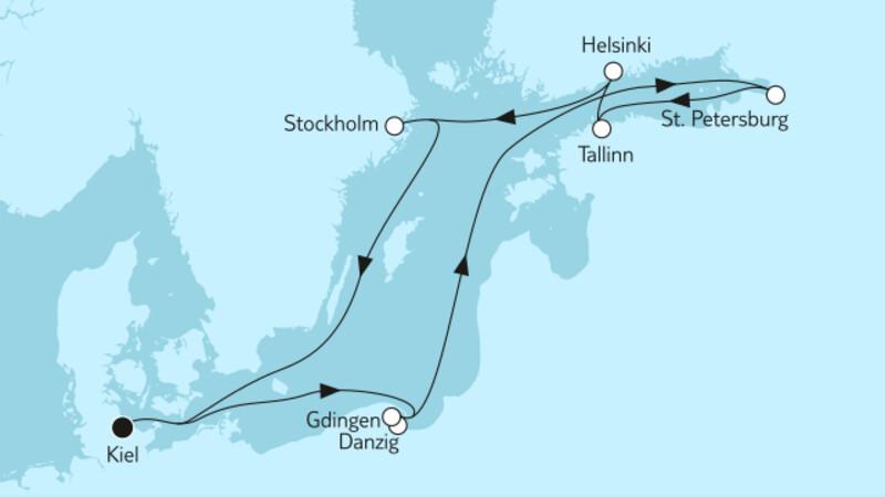 Ostsee mit St. Petersburg & Danzig II