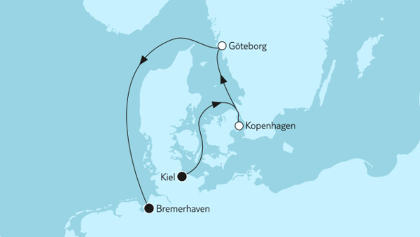 Kurzreise mit Kopenhagen & Göteborg