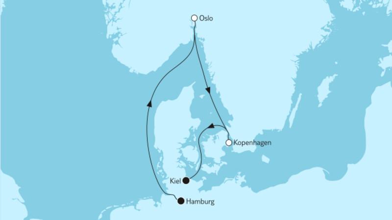 Kurzreise mit Oslo & Kopenhagen I