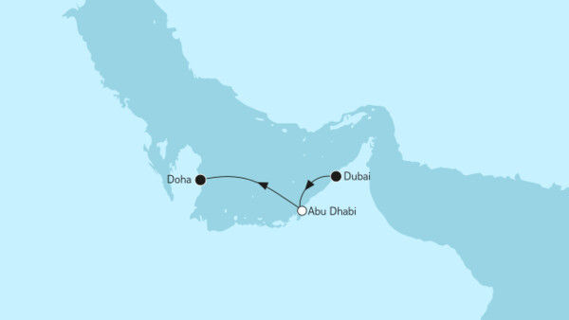 Dubai bis Doha