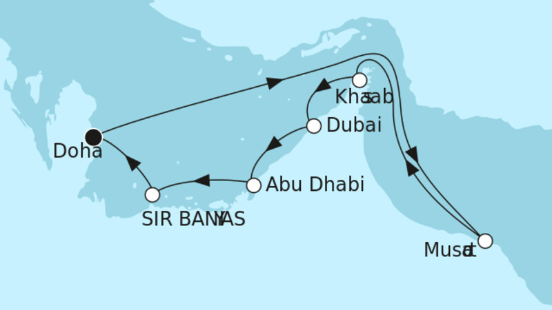 Doha mit Oman & Sir Bani Yas