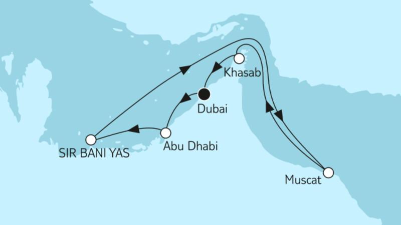 Dubai mit Abu Dhabi