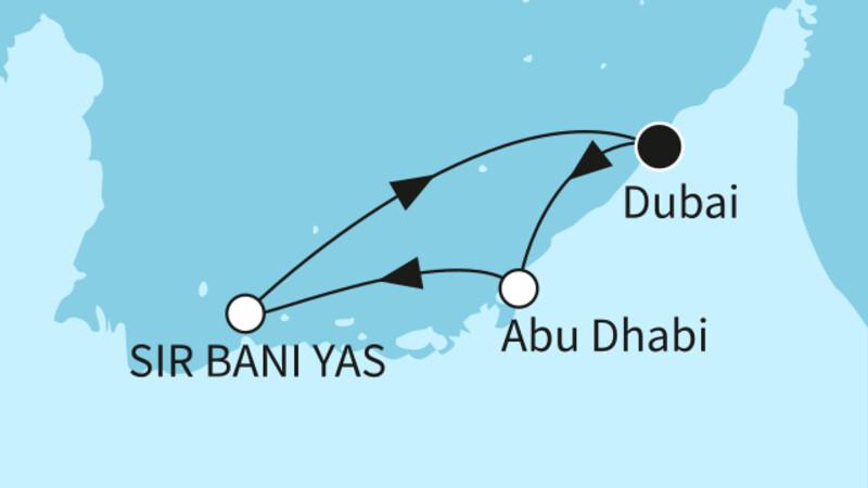 Dubai mit Sir Bani Yas