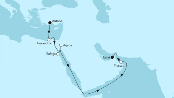 Östliches Mittelmeer bis Dubai