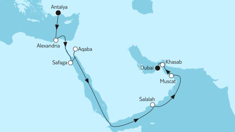 Östliches Mittelmeer bis Dubai I