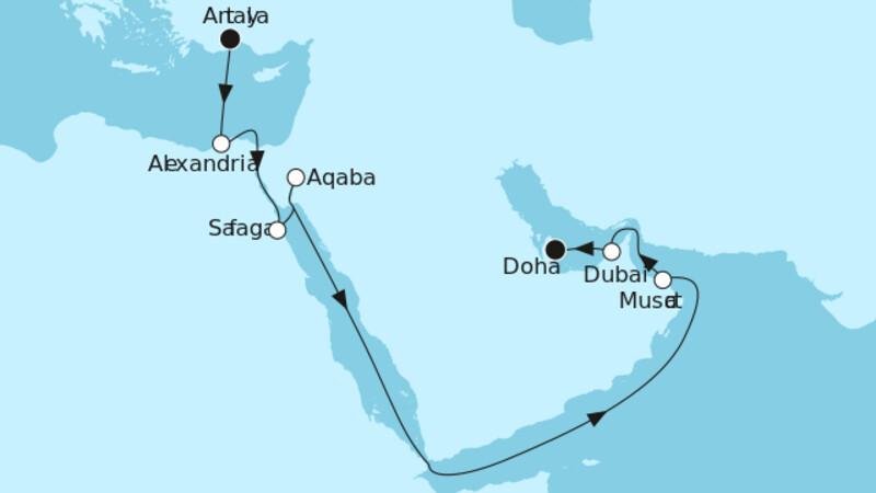 Östliches Mittelmeer mit Doha