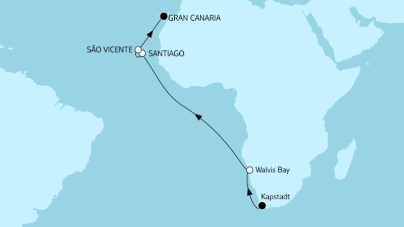 Kapstadt bis Gran Canaria II