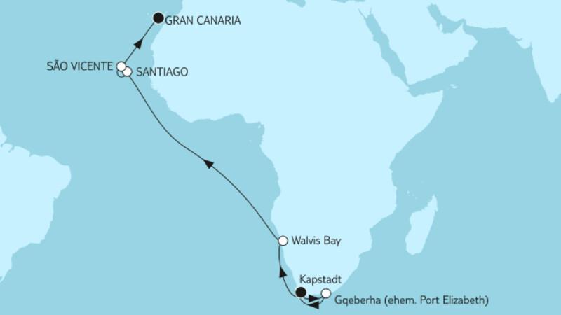 Kapstadt bis Gran Canaria I