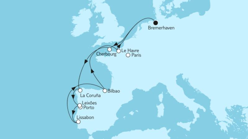 Westeuropa mit Lissabon