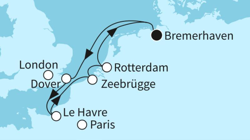 Westeuropa mit Dover