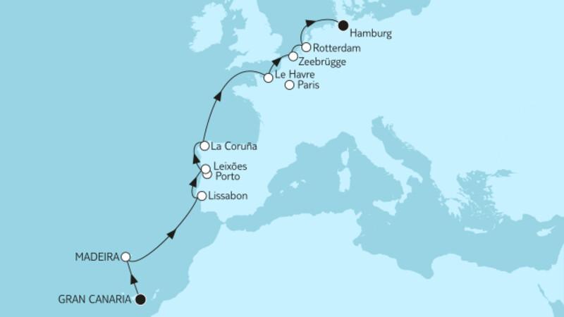Gran Canaria bis Hamburg