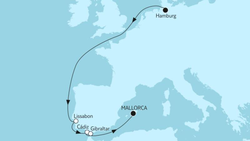 Hamburg bis Mallorca II